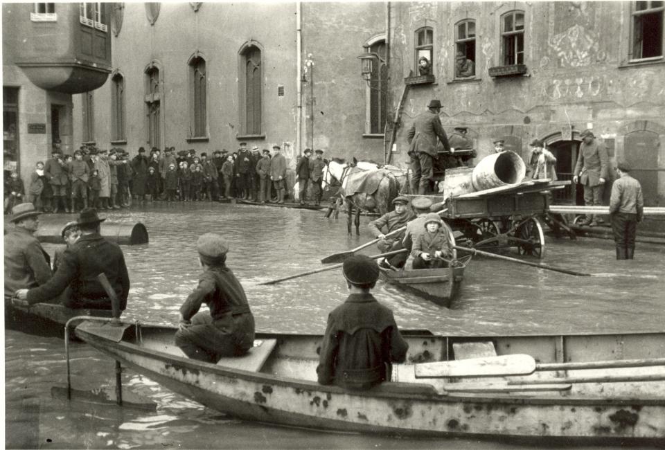 Überschwemmung in Wetzlar 1920.